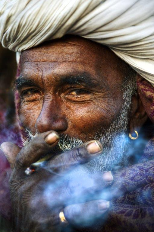 Indigenous Indian Smoking Blue